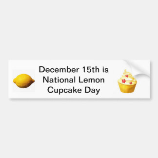 Lemon cup cake day bumper sticker