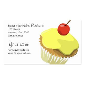 Lemon cupcake business card template