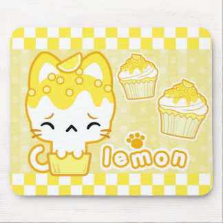 Lemon Cupcake Kitty Mousepad