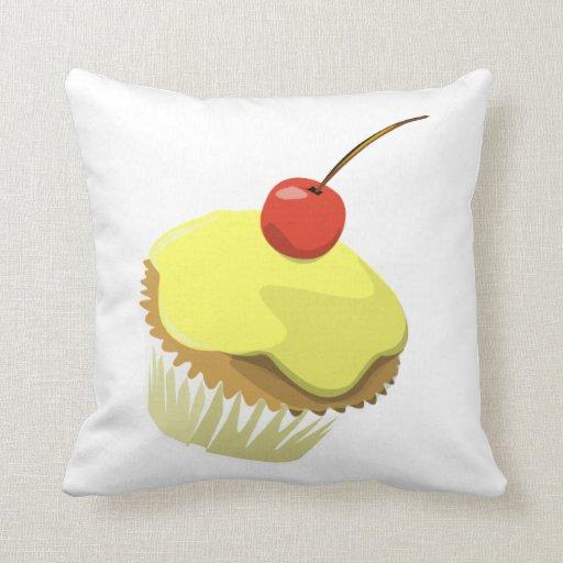 Lemon cupcake pillow