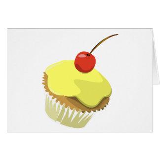 Lemon cupcake w/ Cherry cupcake template products Card