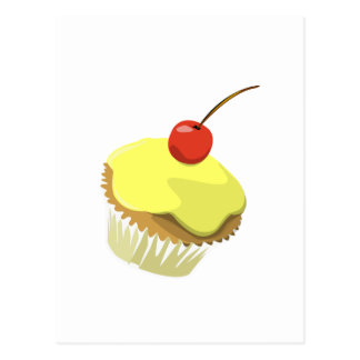 Lemon cupcake w/ Cherry cupcake template products Postcard