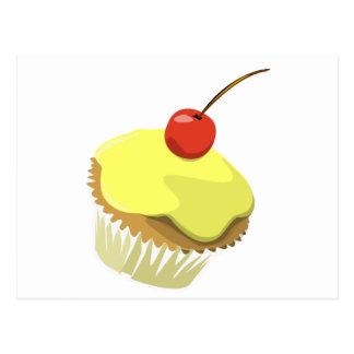 Lemon cupcake w/ Cherry cupcake template products Postcard