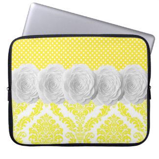 Lemon Damask Laptop Sleeve