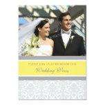 Lemon Damask Photo Wedding Vow Renewal Invitations