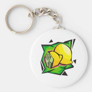 Lemon Disco Keychain