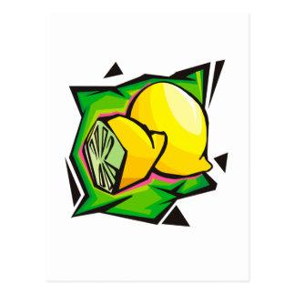 Lemon Disco Postcard