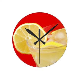 Lemon drink design clock