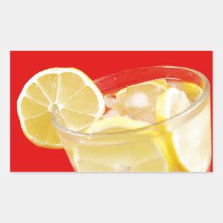 Lemon drink design rectangular sticker