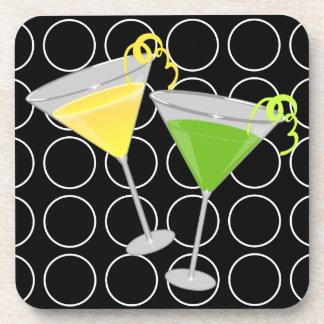 Lemon Drop and Lime Martini Coasters