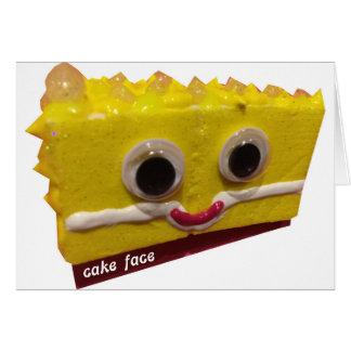 lemon drop cake face with logo card
