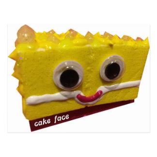lemon drop cake face with logo postcard