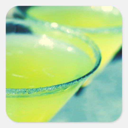 Lemon Drop Cocktail Square Sticker