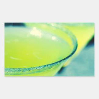 Lemon Drop Cocktail Rectangular Stickers