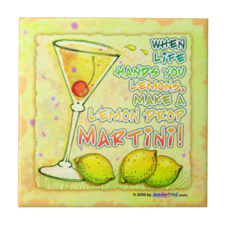 Lemon Drop Martini Coaster Tile