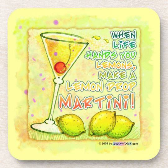 Lemon Drop Martini Cork Coaster