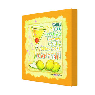 LEMON DROP MARTINI Gallery Wrapped Canvas
