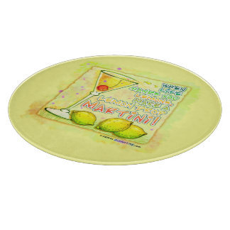 Lemon Drop Martini Glass Cutting Boards