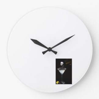 Lemon Drop Martini Modern Wall Clock