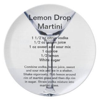 Lemon Drop Martini Plate