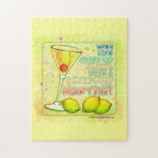 LEMON DROP MARTINI PUZZLE or PUZZLE GIFT TIN