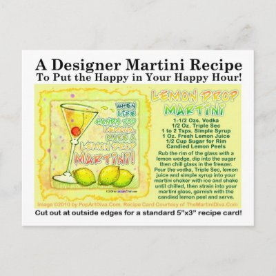 find the recipe for the lemon drop cocktail