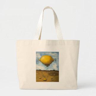 Lemon Drops Large Tote Bag