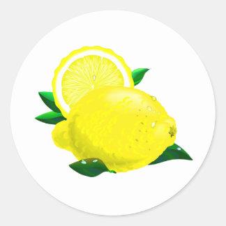 Lemon Drops Round Stickers