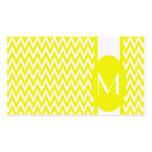 Lemon Elegant Chevron Monogram Business Card