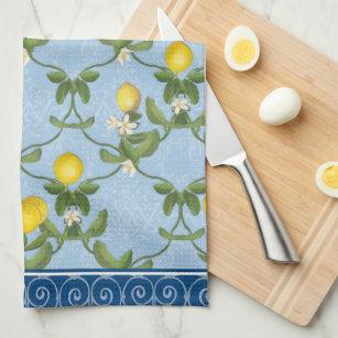 Yellow Damask Kitchen & Hand Towels   Zazzle