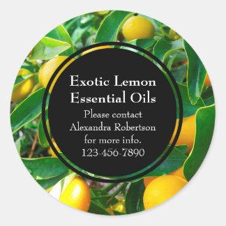 Lemon Essential Oil Business Bottle Label