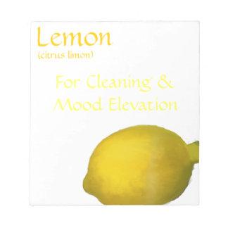 Lemon Essential Oil Notepad