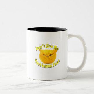 Lemon Face Two-Tone Coffee Mug