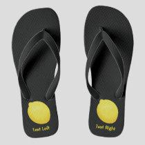 Lemon Flip Flops