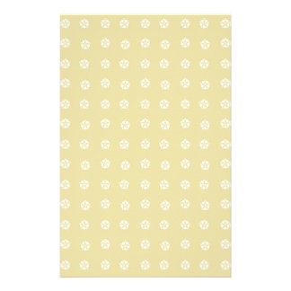Lemon Flower Pattern Stationery