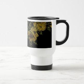 Lemon Flowers Travel Mug