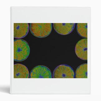 lemon frame black back abstract fruit vinyl binder