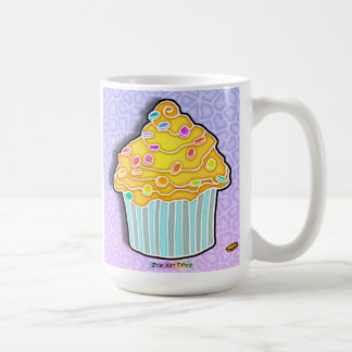 Lemon Frosted Blue CUPCAKE CUP, MUG, STEIN