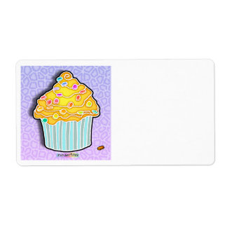Lemon Frosted CUPCAKE AVERY LABEL