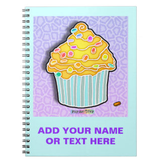 Lemon Frosted Cupcake Notebook