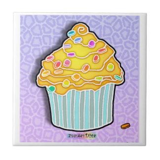 Lemon Frosted Cupcake Tile