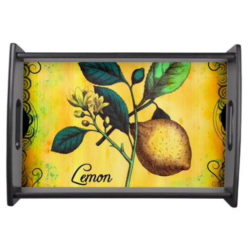 Lemon Vintage Service Trays