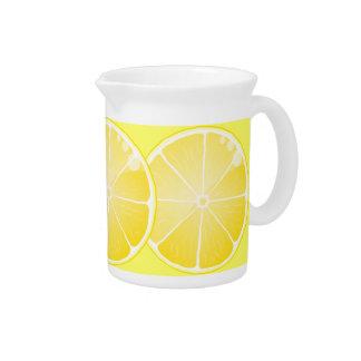 lemon fruit juice pitcher