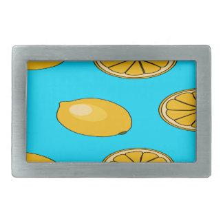Lemon fruit pattern rectangular belt buckle