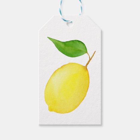 Lemon Gift Tags