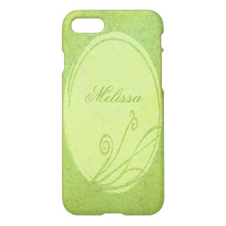 Lemon Grass Personalized Name Spring Green iPhone 7 Case