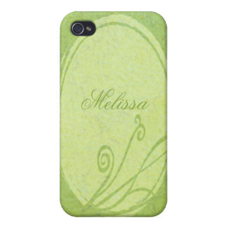 Lemon Grass Personalized Spring Green Case For iPhone 4