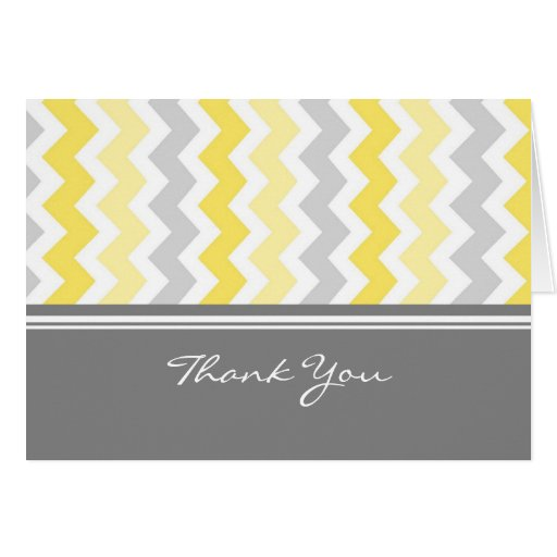 Baby Shower Hostess Thank You ~ Lemon gray baby shower hostess thank you card zazzle