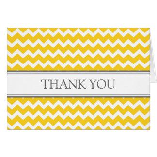 Lemon Gray Chevrons Baby Shower Thank You Card