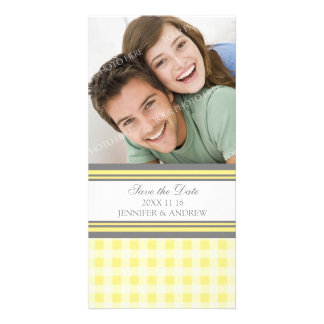 Lemon Gray Save the Date Wedding Photo Cards